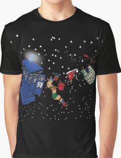 Doctor Who TARDIS Clothes Line Graphic T-Shirt