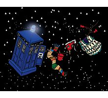 Doctor Who TARDIS Clothes Line Photographic Print