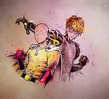 One Punch Man SAITAMA and GENOS by Ckibe