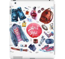 Men Set of trendy look. Watercolor clothes iPad Case/Skin