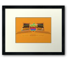 Apple logo Macintosh slogan Framed Print