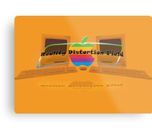 Apple logo Macintosh slogan Metal Print