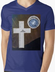 Book page cross Mens V-Neck T-Shirt