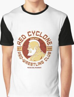 Street Fighter 2 Zangief Inspired Wrestling School Graphic T-Shirt