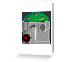 Alien Robot Mascot Pixel Greeting Card