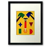 SQUARE PEG Framed Print