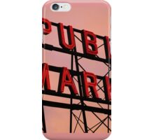 Seattle's Pike Place Market iPhone Case/Skin