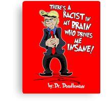 """Donald Hears A """"Booo!"""" Canvas Print"""