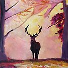 Deer coming from the glade -Style I by artshop77