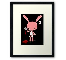 Butcher Bunny Framed Print