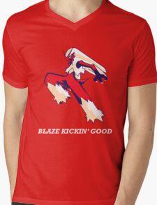 Blaze Kickin' Good Mens V-Neck T-Shirt