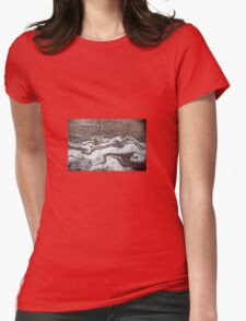 Oil in Water Patterns (2) Womens Fitted T-Shirt