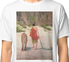 A Monk With His Cat Classic T-Shirt