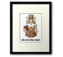 Steampunk Spy Cat I'm on the Case Framed Print