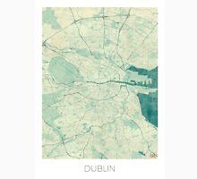 Dublin Map Blue Vintage Unisex T-Shirt