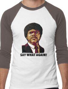 Pulp Fiction Say What Again Men's Baseball ¾ T-Shirt