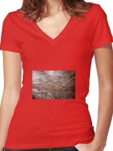 Oil in Water Patterns (4) Women's Fitted V-Neck T-Shirt