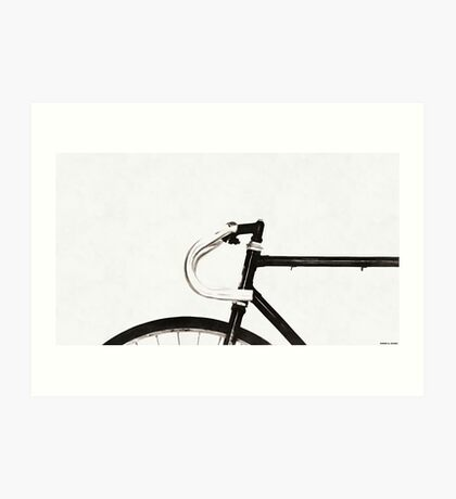 Minimalist Bicycle Painting Art Print