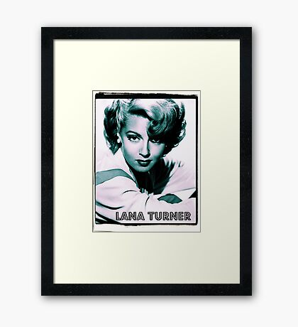 Lana Turner Hollywood Actress Framed Print