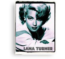 Lana Turner Hollywood Actress Canvas Print