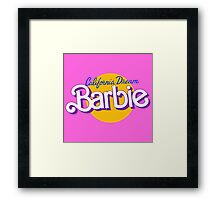 california dream barbie Framed Print