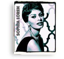 Sophia Loren Hollywood Actress Canvas Print