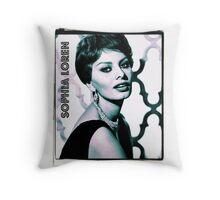 Sophia Loren Hollywood Actress Throw Pillow