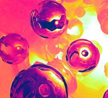 Surreal Spherical Entities Sticker