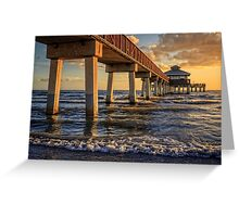 Fort Myers Pier at Sunset Greeting Card