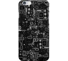 Klimt Pattern - Monochrome iPhone Case/Skin