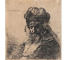 REMBRANDT HARMENSZ VAN RIJN, Old Bearded Man in a High Fur Cap Photographic Print