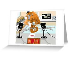The News Announcer Greeting Card