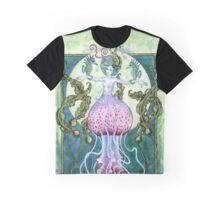 Whimsy - Jellyfish Mermaid Graphic T-Shirt