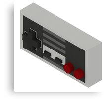 NES Controller - Isometric Canvas Print