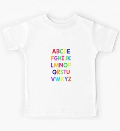 Alphabet fun Kids Tee