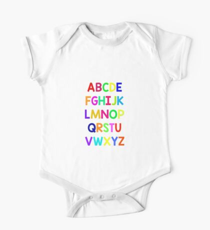 Alphabet fun One Piece - Short Sleeve