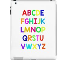 Alphabet fun iPad Case/Skin