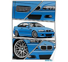 BMW E46 M3 (fragments) Poster