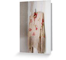 Vintage shawl Greeting Card