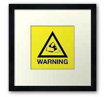 Fox Warning Framed Print