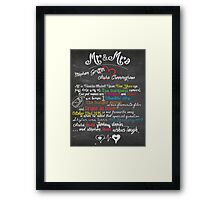 Valentine's and Couples Chalkboard (Printable file) Framed Print
