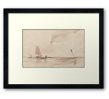 Richard Parkes Bonington - A Seascape Framed Print