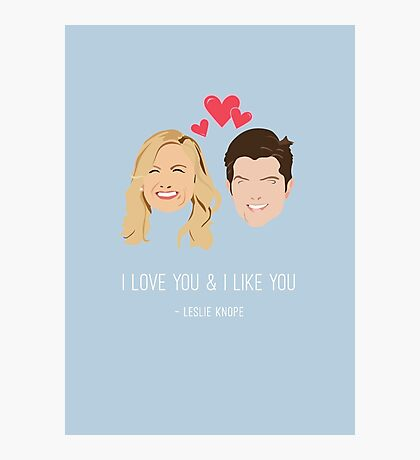 Leslie Knope Loves Ben Wyatt Photographic Print