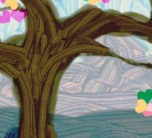 One Love Heart Tree Sticker