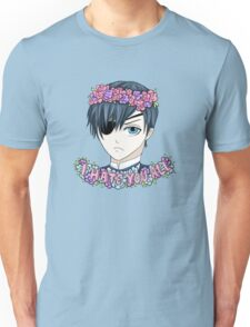 """I Hate You All"" Kawaii Ciel - Black Butler Fan Art Unisex T-Shirt"