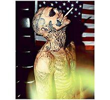 Zombie Boy Body Art Tattoo  Photographic Print