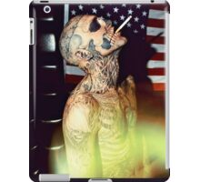 Zombie Boy Body Art Tattoo  iPad Case/Skin