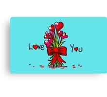 Love You Flowers Canvas Print