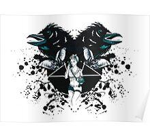 Rockabilly Gothic Pentagram Poster