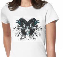 Rockabilly Gothic Pentagram Womens Fitted T-Shirt